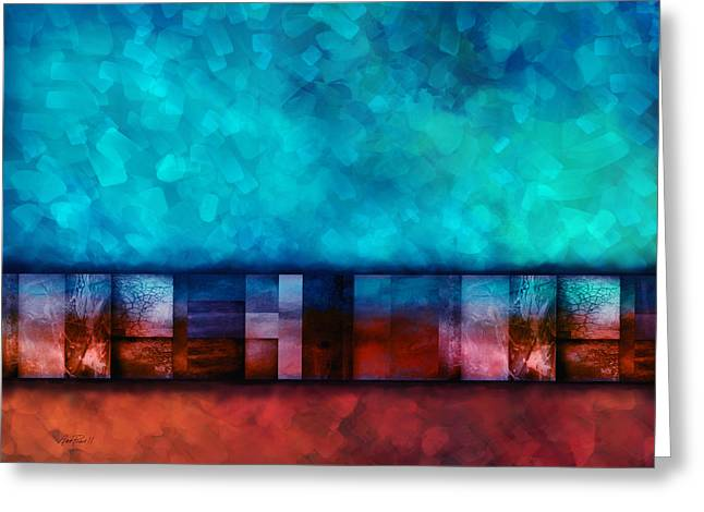 Abstract Study Seven Greeting Card by Ann Powell