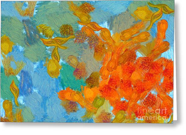 Awesome Greeting Cards - Abstract Summer #2 Greeting Card by Pixel Chimp