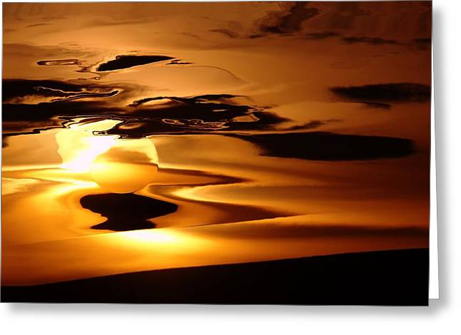Abstract Sunrise Greeting Card by Jeff Swan