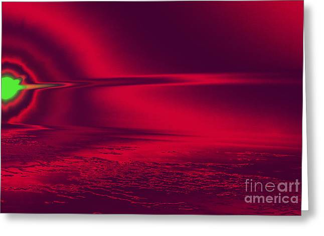 Concept Photographs Greeting Cards - Abstract sunset-HDR Greeting Card by Claudia Mottram