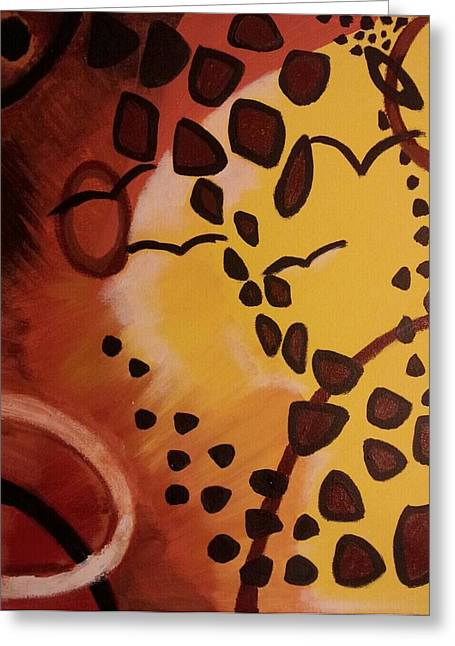 Saw Drawings Greeting Cards - Abstract Sunshine Greeting Card by Tiffany  Rios