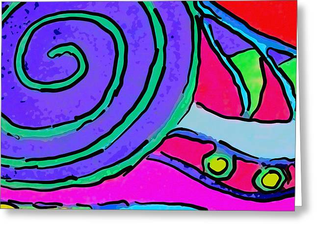 Fushia Greeting Cards - Abstract Swirl Greeting Card by Jodi Jacobson