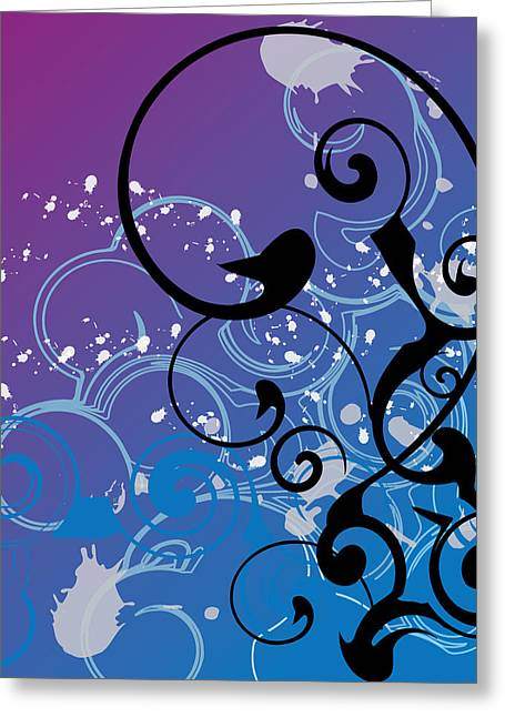 Recently Sold -  - Purple Abstract Greeting Cards - Abstract Swirl Greeting Card by Mellisa Ward