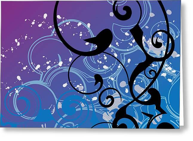 Abstract Swirl Greeting Card by Mellisa Ward