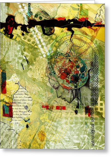 Swiss Paintings Greeting Cards - Abstract Tarot Art 009 Greeting Card by Corporate Art Task Force