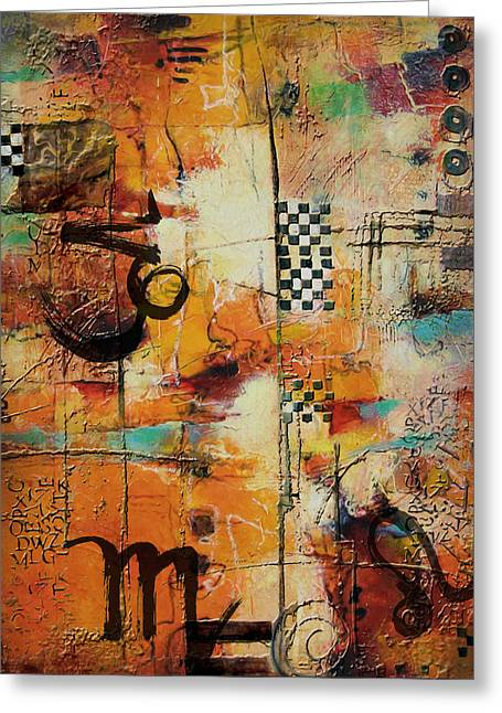 Swiss Paintings Greeting Cards - Abstract Tarot Art 010 Greeting Card by Corporate Art Task Force