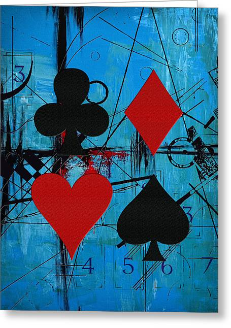Tarot Cards Greeting Cards - Abstract Tarot Art 012 Greeting Card by Corporate Art Task Force