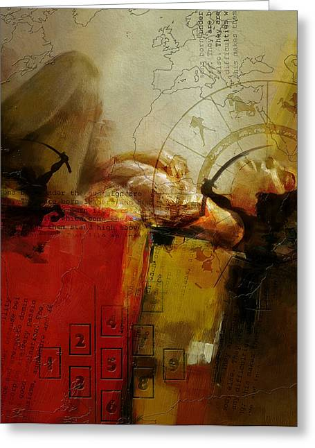 Swiss Paintings Greeting Cards - Abstract Tarot Art 014 Greeting Card by Corporate Art Task Force