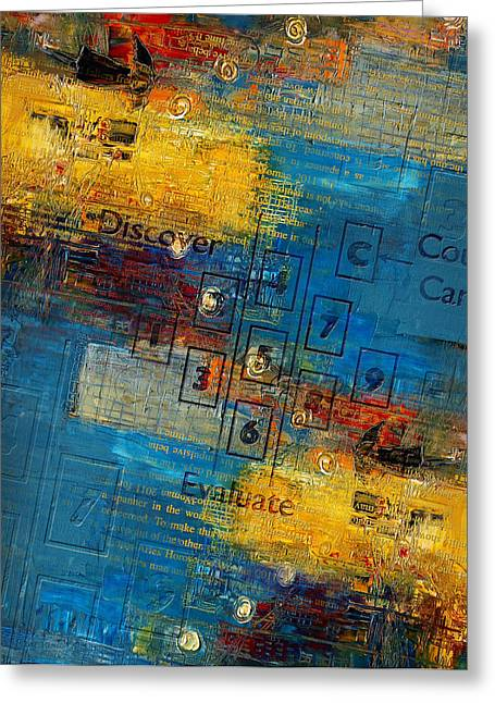 Tarock Greeting Cards - Abstract Tarot Art 016 Greeting Card by Corporate Art Task Force