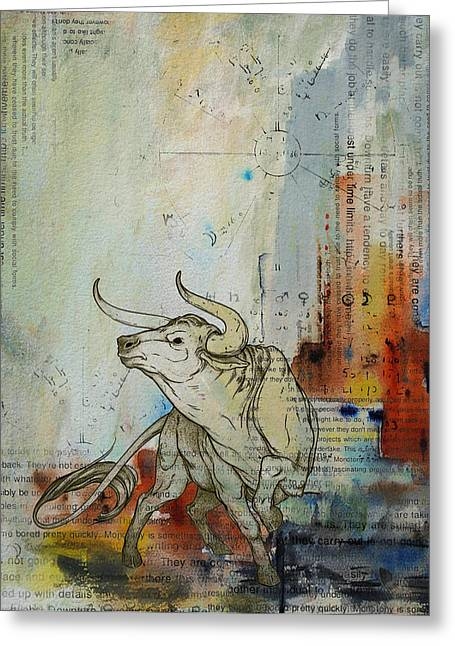 Tarot Cards Greeting Cards - Abstract Tarot Art 017 Greeting Card by Corporate Art Task Force