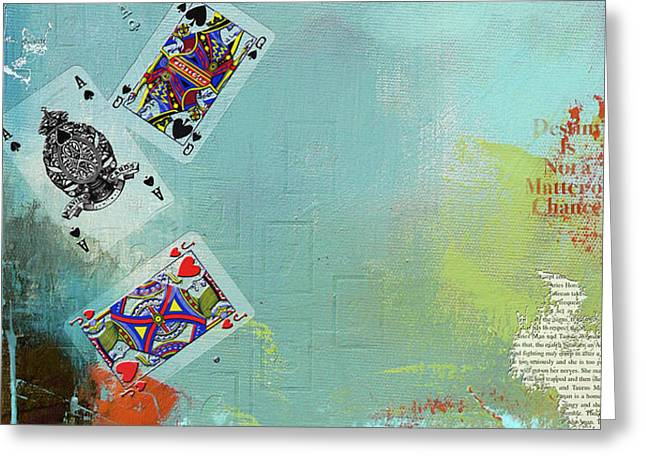 Abstract Tarot Card 009 Greeting Card by Corporate Art Task Force