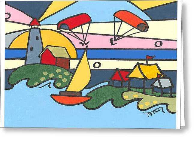 Abstract Tawas Point Greeting Card by Robin  Pelton
