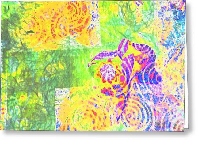 Abstract The Colors Of Time And Place Greeting Card by Regina Kyle