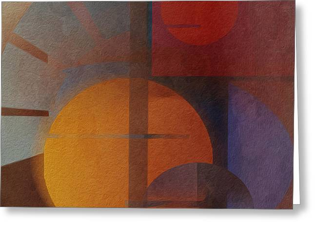 Abstract Tisa Schlemm 05 Greeting Card by Joost Hogervorst