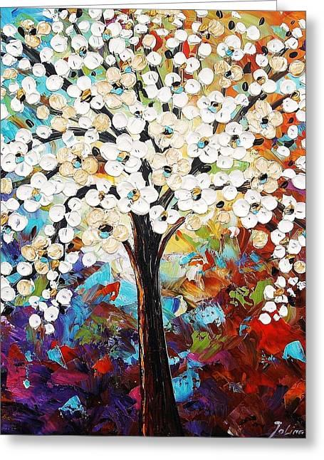 Jolina Anthony Greeting Cards - Abstract Tree Greeting Card by Jolina Anthony