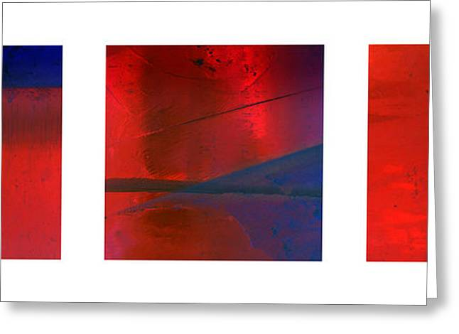 Abstract Forms Greeting Cards - Abstract Triptychon 2 Greeting Card by Jochen Schoenfeld