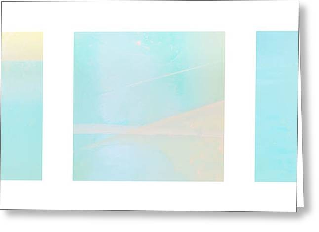 Abstract Forms Greeting Cards - Abstract Triptychon Greeting Card by Jochen Schoenfeld