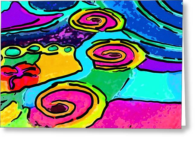 Fushia Greeting Cards - Abstract twirls Greeting Card by Jodi Jacobson
