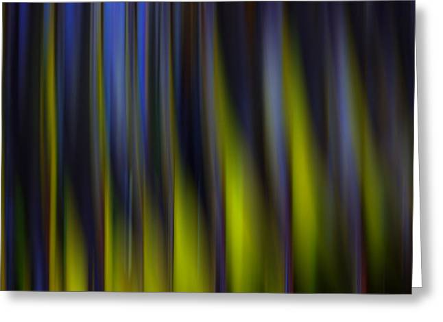Abstract Shapes Greeting Cards - Abstract Vertical Red Yellow Blue and Green Greeting Card by Marvin Spates