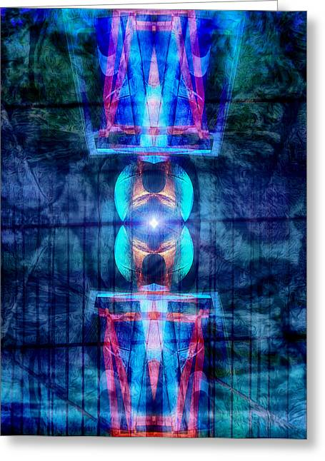 Energetic Greeting Cards - Abstract Vision Greeting Card by Wim Lanclus