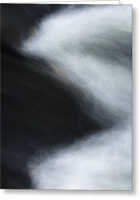 Rill Greeting Cards - Abstract wave #1 Greeting Card by Andy-Kim Moeller