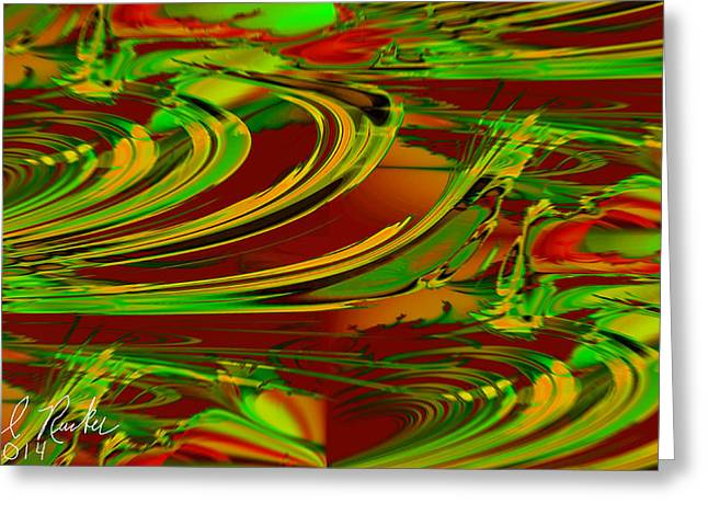 Abstract Waves Greeting Card by Michael Rucker