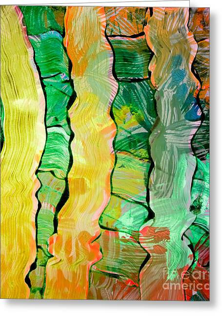 Abstract Greeting Cards - Abstract Weave Greeting Card by Laura L Leatherwood