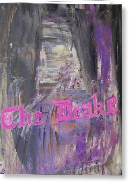 Magnificent Mile Greeting Cards - Abstract Winter Drake Hotel Greeting Card by John Sabey Jr
