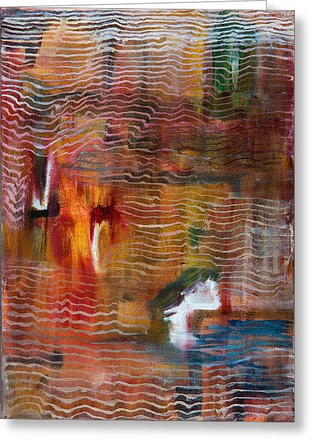 Abstract With Lines Greeting Card by Cathal Lindsay