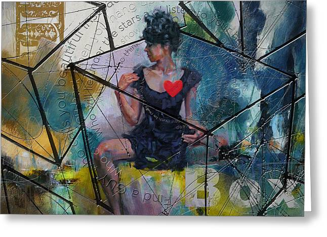 Fineartamerica Greeting Cards - Abstract Woman 002 Greeting Card by Corporate Art Task Force