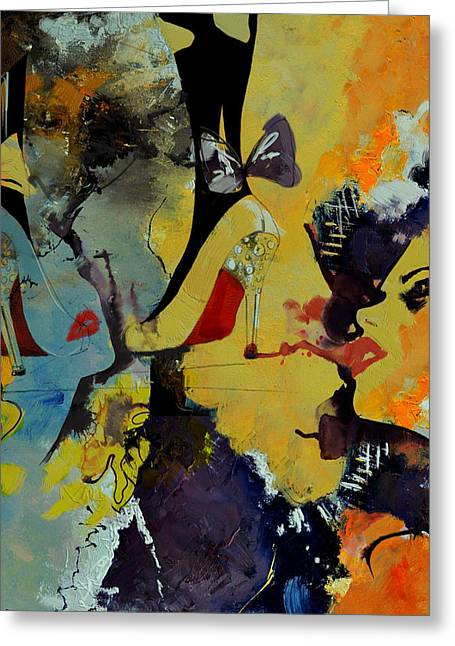 Fineartamerica Greeting Cards - Abstract Women 010 Greeting Card by Corporate Art Task Force