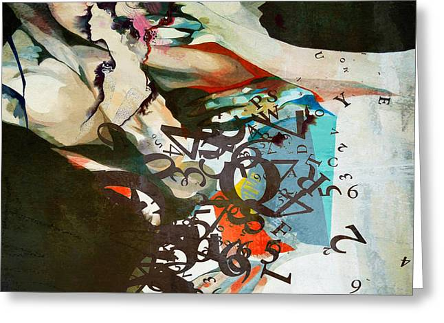 Fineartamerica Greeting Cards - Abstract Women 025 Greeting Card by Corporate Art Task Force