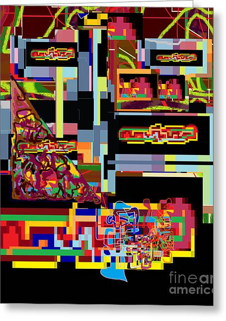 Inner Self Greeting Cards - Abstract Workings With Hidden Ways Of Kedusha 1 Greeting Card by David Baruch Wolk