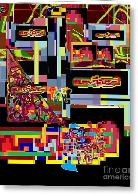 Inner Self Greeting Cards - Abstract Workings With Hidden Ways Of Kedusha 1a Greeting Card by David Baruch Wolk