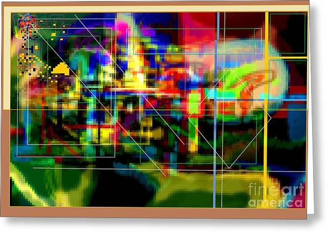 Inner Self Greeting Cards - Abstract Workings With Hidden Ways Of Kedusha 3d Greeting Card by David Baruch Wolk