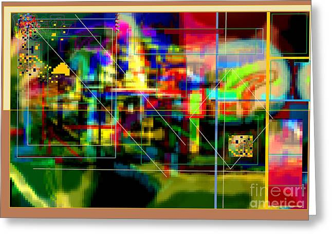 Inner Self Greeting Cards - Abstract Workings With Hidden Ways Of Kedusha 3e Greeting Card by David Baruch Wolk