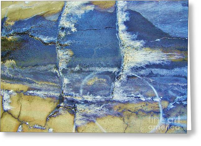 Crack In Concrete Greeting Cards - Abstract World Greeting Card by Reb Frost