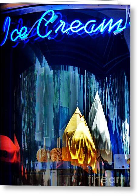 Store Fronts Greeting Cards - Abstracted Ice Cream Greeting Card by Chuck  Hicks