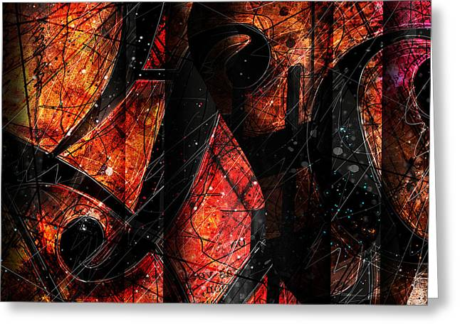 Abstract Music Greeting Cards - Abstracta_01 Symblz Greeting Card by Gary Bodnar