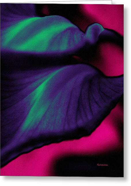 Irregular Forms Greeting Cards - Abstracting Natures Flow Greeting Card by Georgiana Romanovna
