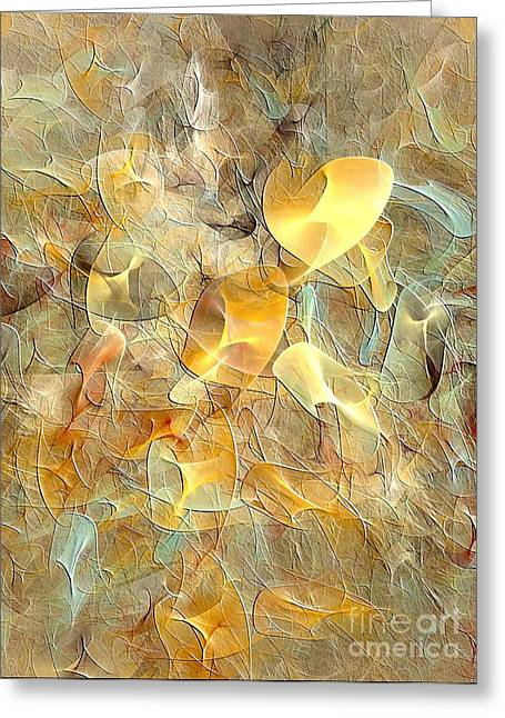 Subtle Colors Greeting Cards - Abstraction 016-13 marucii Greeting Card by Marek Lutek