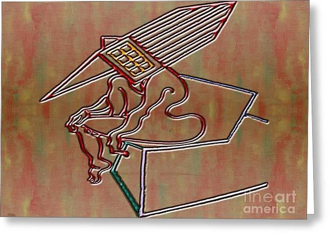 Artprint Greeting Cards - Abstraction 107 Greeting Card by Patrick J Murphy