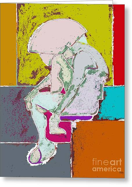 Expressive Arts Mixed Media Greeting Cards - Abstraction 113 Greeting Card by Patrick J Murphy