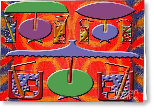 Fizz Mixed Media Greeting Cards - Abstraction 177 Greeting Card by Patrick J Murphy