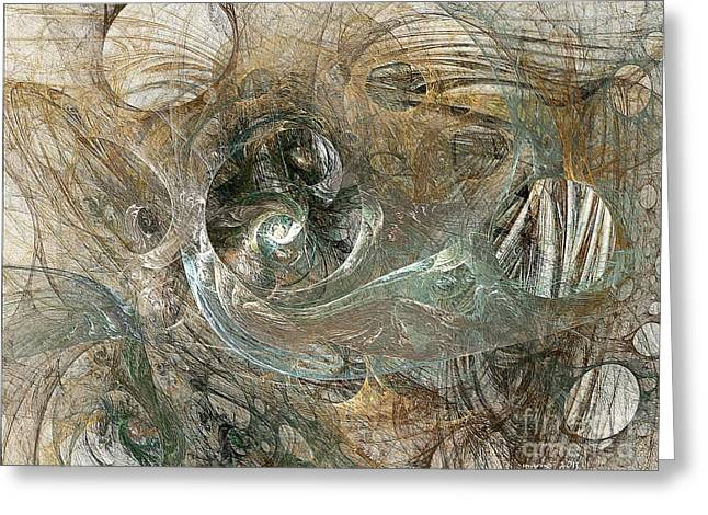 Subtle Colors Greeting Cards - Abstraction 303-07-13 Marucii Greeting Card by Marek Lutek
