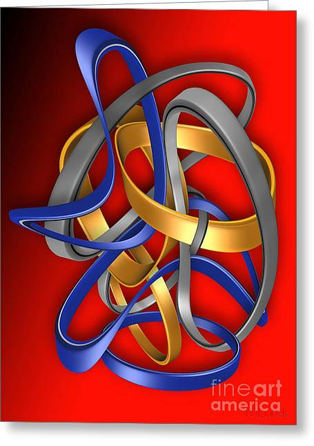 Subtle Colors Greeting Cards - Abstraction 460-09-13 marucii Greeting Card by Marek Lutek