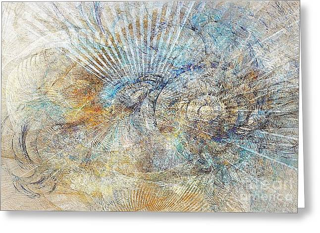 Subtle Colors Greeting Cards - Abstraction 476-09-13 marucii Greeting Card by Marek Lutek