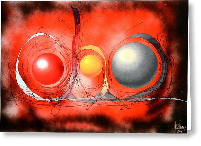 Formes Greeting Cards - Abstraction 66 Greeting Card by MICHAUX Michel