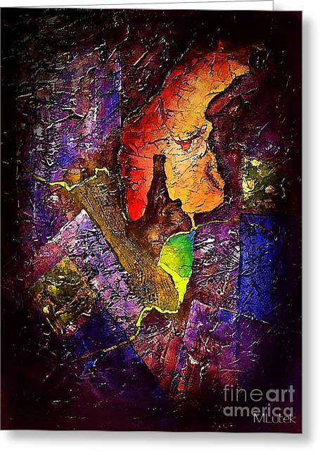 Subtle Colors Greeting Cards - Abstraction 665 - marucii Greeting Card by Marek Lutek