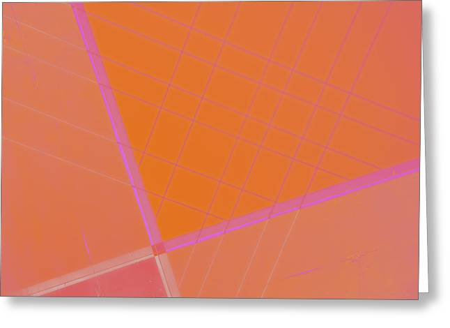 Abstractions Greeting Cards - Abstraction in Pink Greeting Card by Carol Leigh